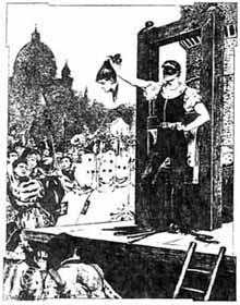 L'esecuzione di Beatrice Cenci in una stampa del XIX secolo