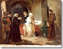 FEDERICO FARUFFINI, Beatrice Cenci in carcere, XIX secolo, olio su tela (collezione privata?)