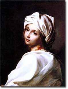 GUIDO RENI, (presunto) Ritratto di Beatrice Cenci, 1599-1600, olio su tela (Roma, Galleria Nazionale di Arte Antica - Palazzo Barberini)