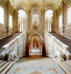 Reggia di Caserta, scalone centrale (dopo 1752)