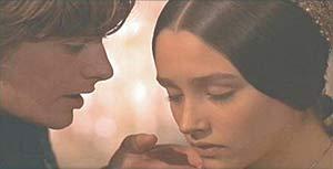 """Leonard Whiting e Olivia Hussey nel film """"Romeo e Giulietta"""" di Franco Zeffirelli (1968)"""