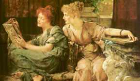 SIR LAWRENCE ALMA-TADEMA, Comparisons, 1892, (partic.) olio su tela (Cincinnati Art Museum)