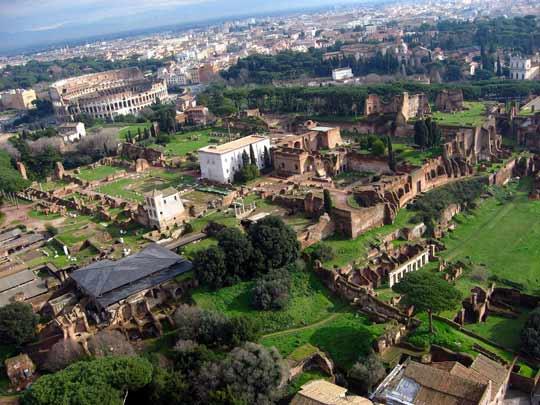 Itinerari romani il palatino colle sacro di roma for Architetto giardini roma